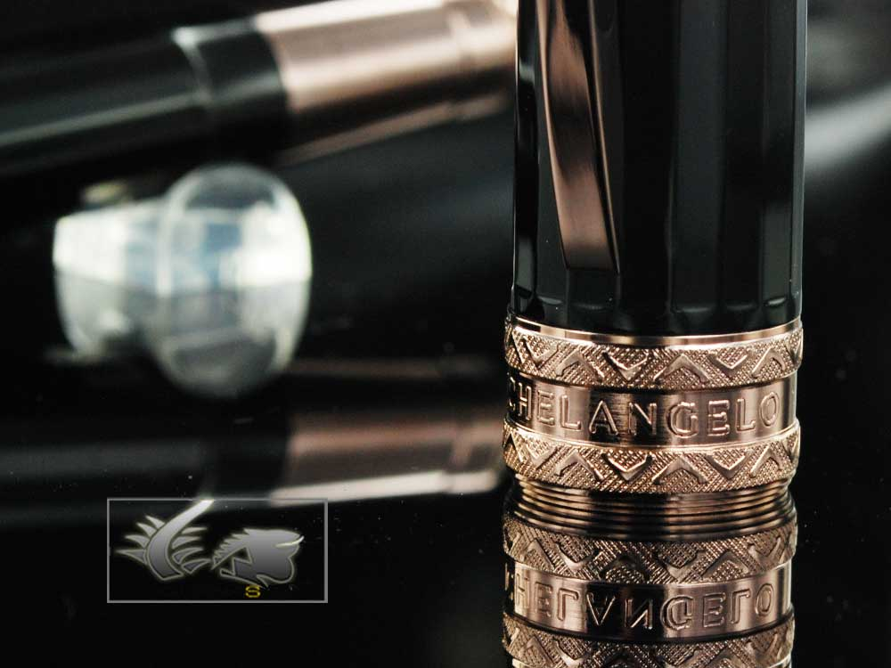 Visconti Michelangelo Black Fountain Pens   -   29502