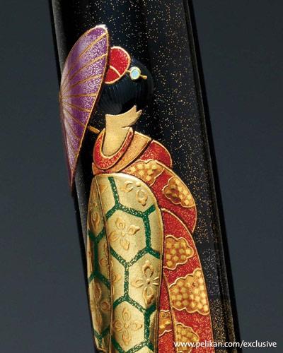 """Pelikan """"Maiko in Kyoto"""" Maki-e Fountain Pen - Limited Edition"""