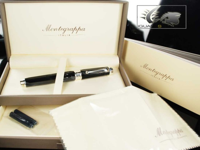 Montegrappa Emblema Fountain Pen - Black Celluloid - ISEBT-CC