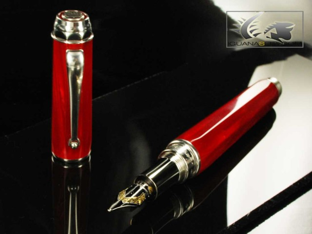 Montegrappa Emblema Fountain Pen - Red Celluloid - ISEBT-CR