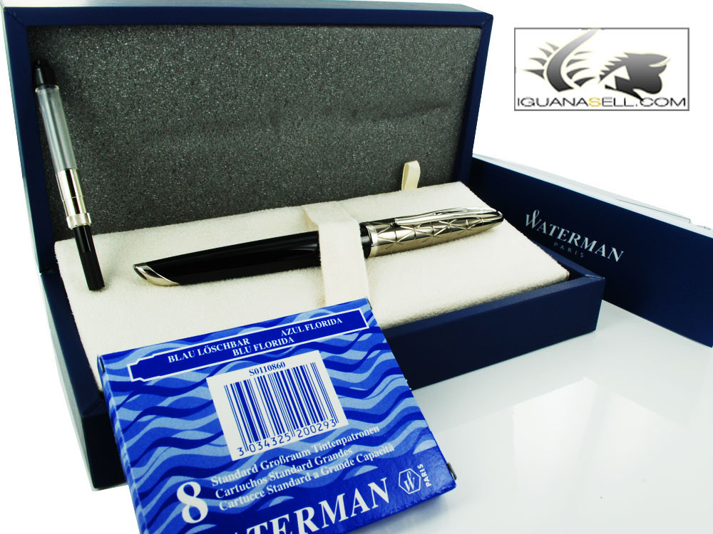 Waterman Fountain Pen Carene Contemporary Gunmetal PVD & Black Lacquer S0909930