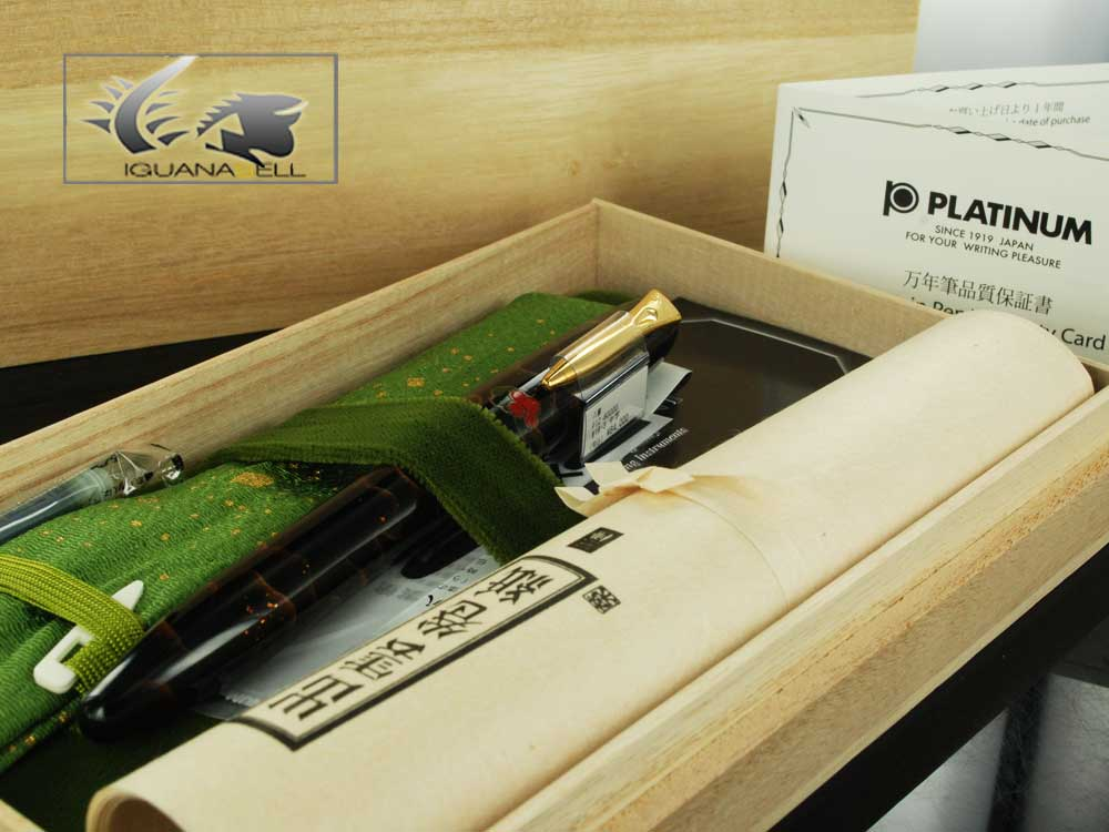 Platinum Fountain Pen Izumo Yagumonuri Urushi Lacquer Maki-e