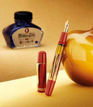 Pelikan M101N Tortoiseshell Red Fountain Pen