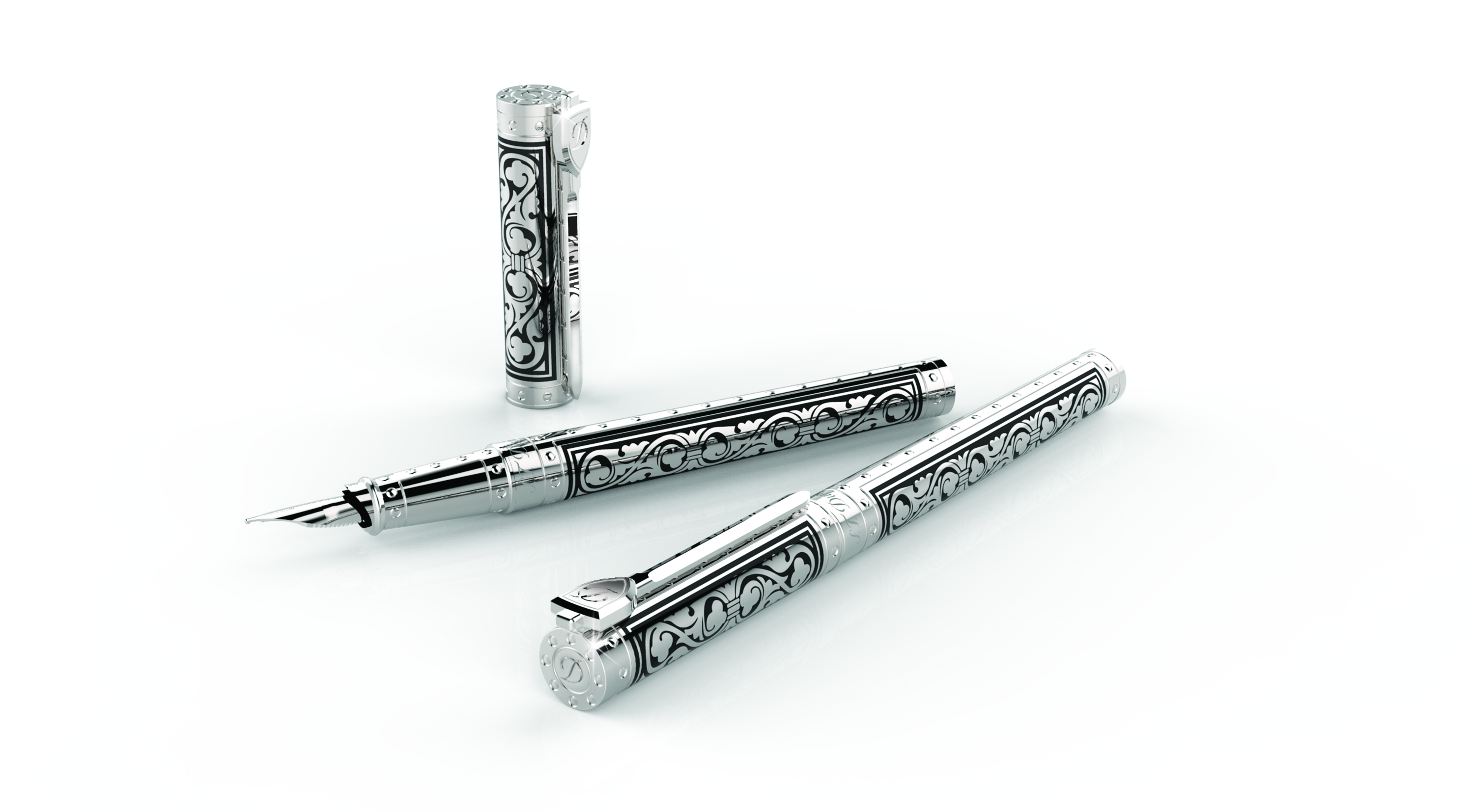 St Dupont White Knight Premium Fountain Pen