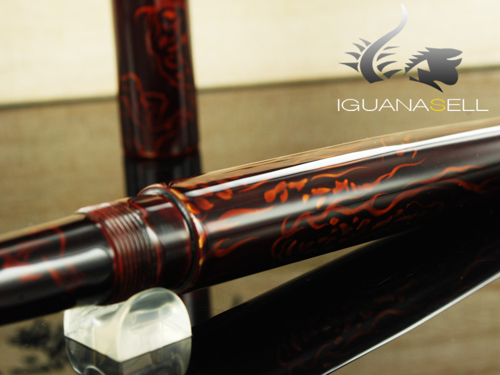 Nakaya Cigar Long Ascending Dragons Fountain Pen
