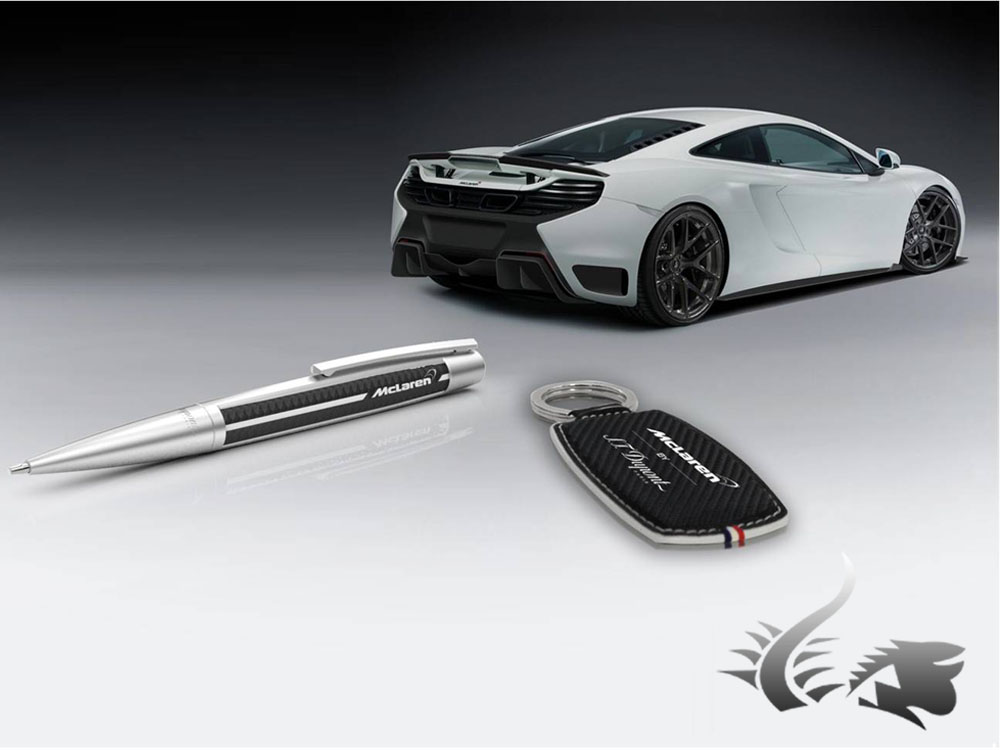 Ballpoint pen with carbon fiber effect St Dupont McClaren